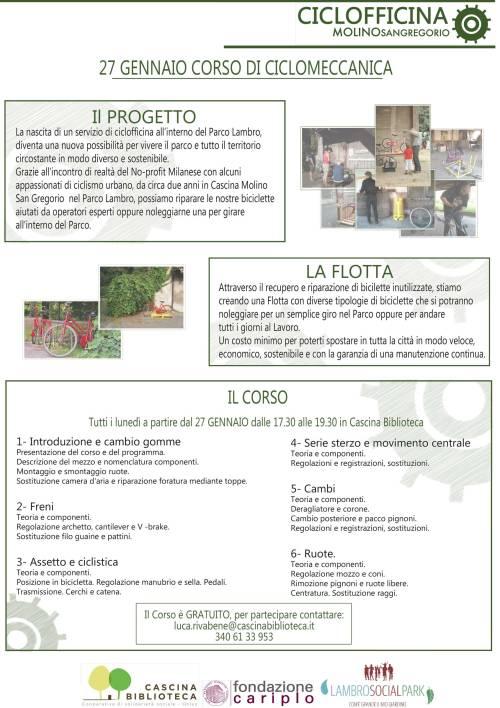 Corsi di Ciclomeccanica al Parco Lambro!